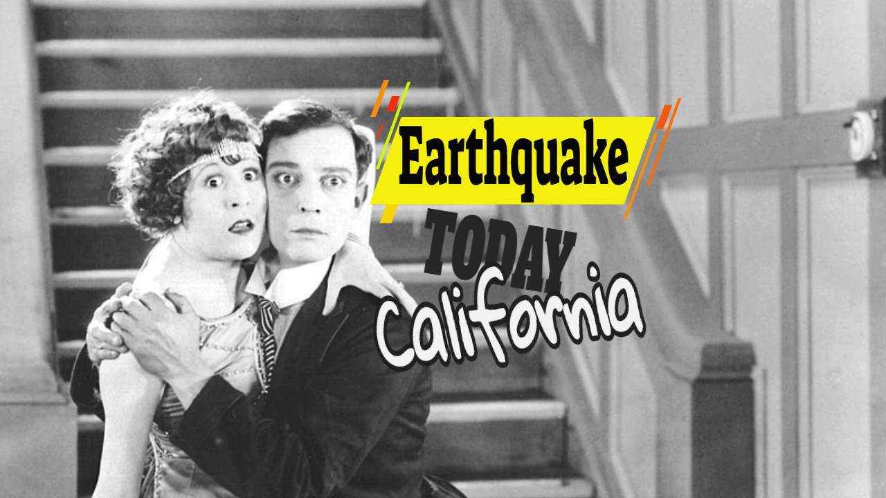 "Image with the text: ""Earthquake today California""."